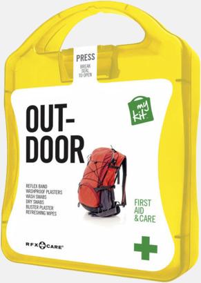 Gul Första hjälpen-kit för vildmarken - med reklamtryck