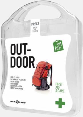 Vit Första hjälpen-kit för vildmarken - med reklamtryck