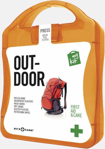 Orange Första hjälpen-kit för vildmarken - med reklamtryck