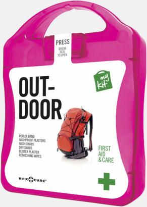 Magenta Första hjälpen-kit för vildmarken - med reklamtryck