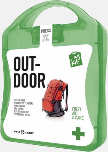 Grön Första hjälpen-kit för vildmarken - med reklamtryck