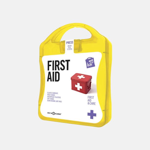 Gul Första hjälpen-kit med reklamtryck