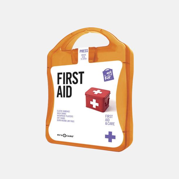Orange Första hjälpen-kit med reklamtryck