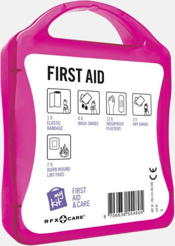 Baksida Första hjälpen-kit med reklamtryck