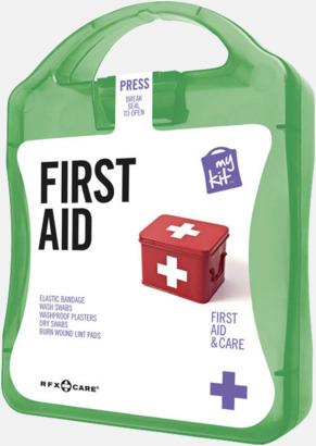 Grön Första hjälpen-kit med reklamtryck