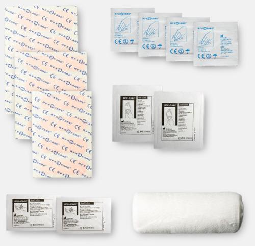 Innehåll Första hjälpen-kit med reklamtryck