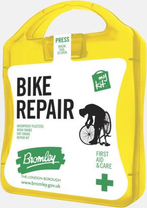 Gul För skador på dig eller cykeln - med reklamtryck