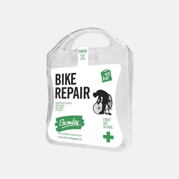 Vit För skador på dig eller cykeln - med reklamtryck