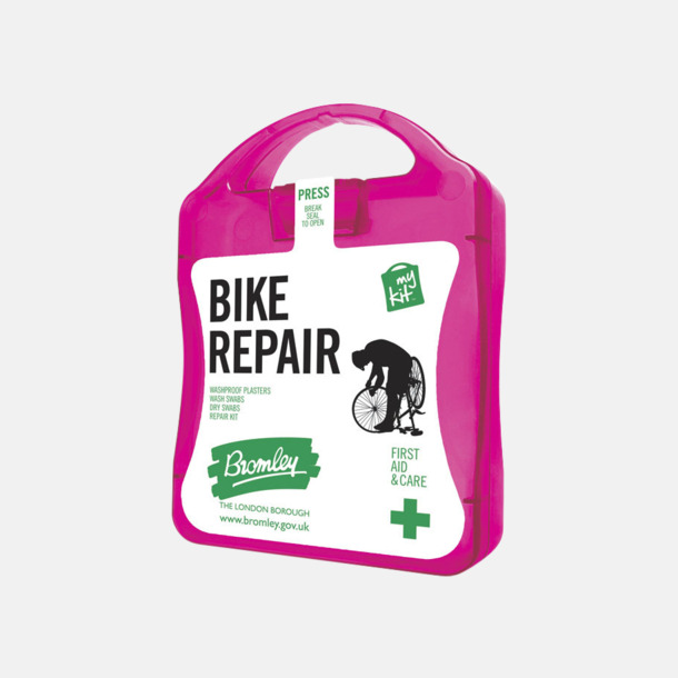 Magenta För skador på dig eller cykeln - med reklamtryck