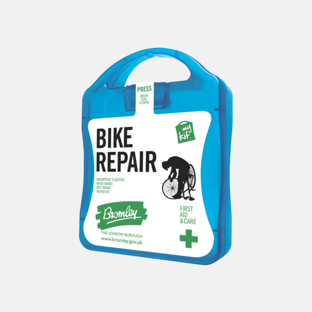 Blå För skador på dig eller cykeln - med reklamtryck