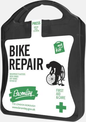 Svart För skador på dig eller cykeln - med reklamtryck