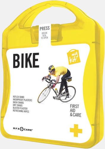 Gul Första hjälpen-plåster för cyklisten - med reklamtryck