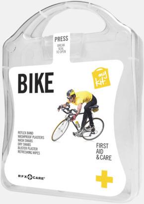 Vit Första hjälpen-plåster för cyklisten - med reklamtryck