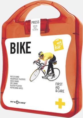 Röd Första hjälpen-plåster för cyklisten - med reklamtryck