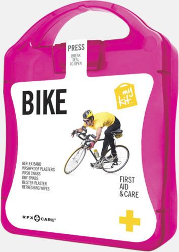 Magenta Första hjälpen-plåster för cyklisten - med reklamtryck