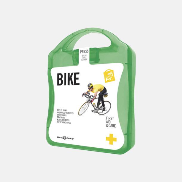 Grön Första hjälpen-plåster för cyklisten - med reklamtryck