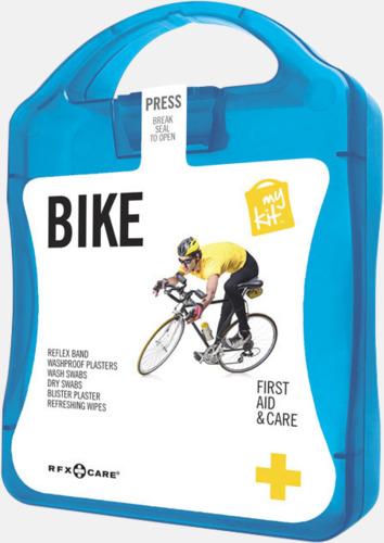 Blå Första hjälpen-plåster för cyklisten - med reklamtryck