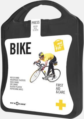 Svart Första hjälpen-plåster för cyklisten - med reklamtryck