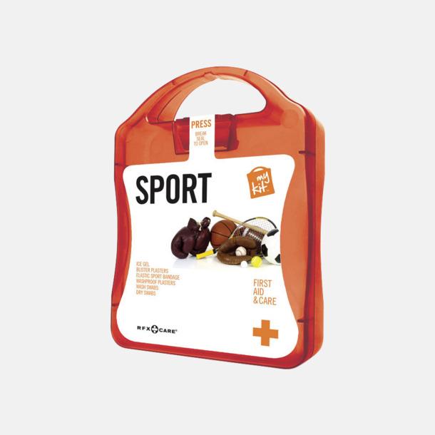 Röd Första hjälpen-sportutgåva med reklamtryck