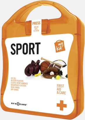 Orange Första hjälpen-sportutgåva med reklamtryck