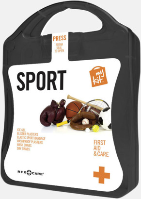 Svart Första hjälpen-sportutgåva med reklamtryck