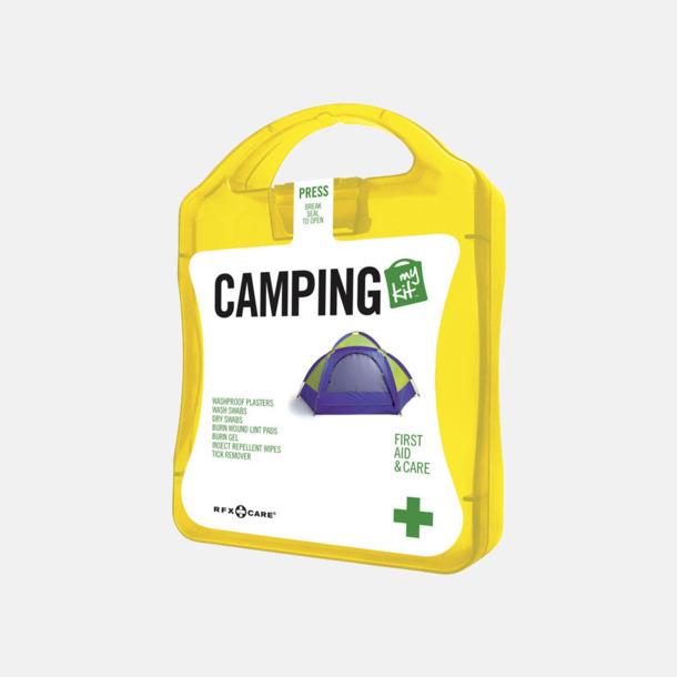 Gul Första hjälpen-kit för camparen - med reklamtryck