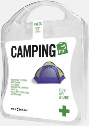 Vit Första hjälpen-kit för camparen - med reklamtryck