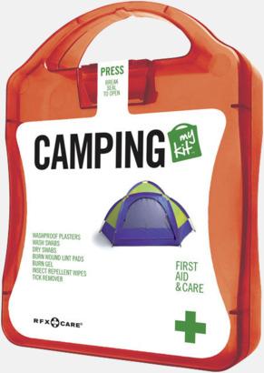 Röd Första hjälpen-kit för camparen - med reklamtryck