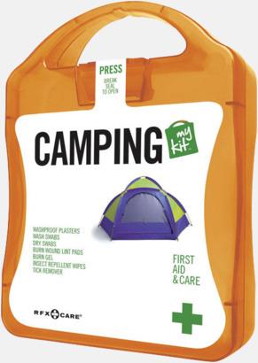 Orange Första hjälpen-kit för camparen - med reklamtryck
