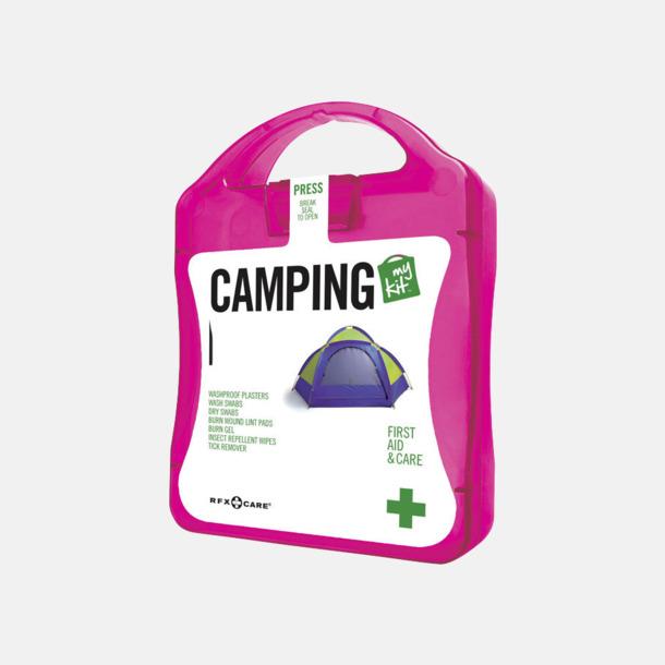 Magenta Första hjälpen-kit för camparen - med reklamtryck