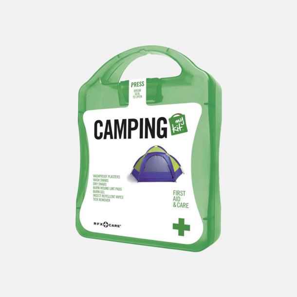 Grön Första hjälpen-kit för camparen - med reklamtryck