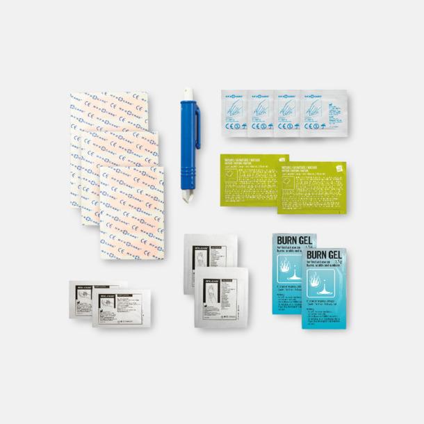 Innehåll Första hjälpen-kit för camparen - med reklamtryck