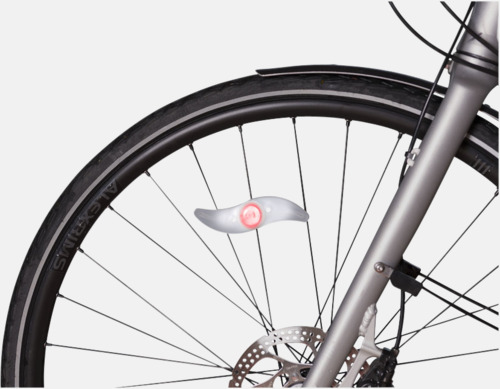 Cykelljus att fästa på hjulet - med reklamtryck
