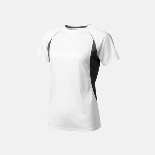 Vit (dam) Herr- & damfunktionströjor med reklamtryck