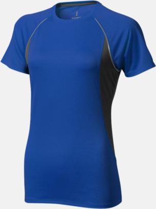 Blå (dam) Herr- & damfunktionströjor med reklamtryck