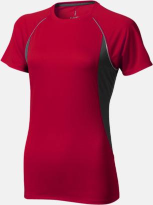 Röd (dam) Herr- & damfunktionströjor med reklamtryck