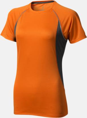 Orange (dam) Herr- & damfunktionströjor med reklamtryck