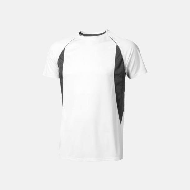 Vit (herr) Herr- & damfunktionströjor med reklamtryck