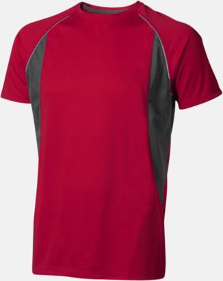 Röd (herr) Herr- & damfunktionströjor med reklamtryck