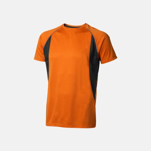 Orange (herr) Herr- & damfunktionströjor med reklamtryck