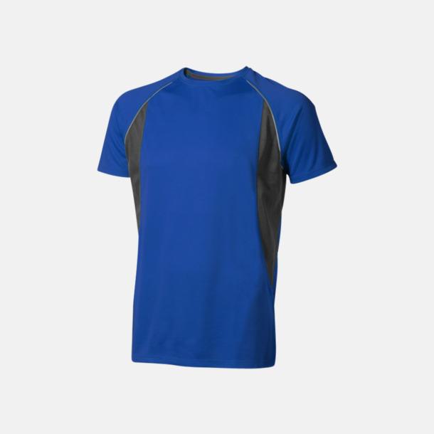 Blå (herr) Herr- & damfunktionströjor med reklamtryck