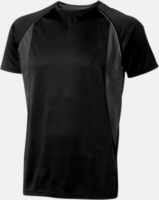 Svart (herr) Herr- & damfunktionströjor med reklamtryck