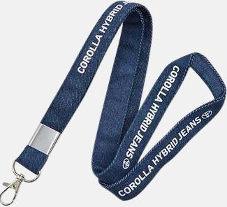 Denim Logoband i jeans med reklamtryck