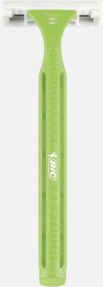 Grön Feminina engångsrakhyvlar från BIC med reklamtryck