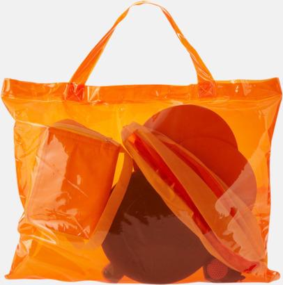 Orange / Blå Strandkit med reklamtryck