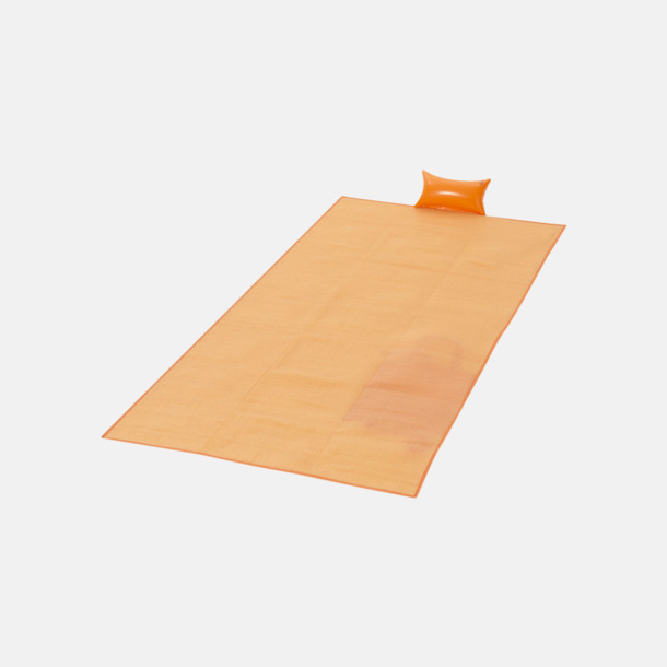 Orange Strandmattor med uppblåsbara kuddar - med reklamtryck