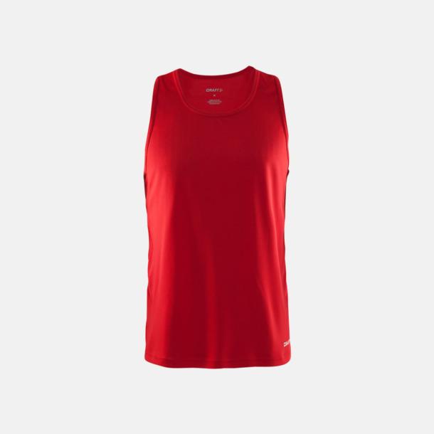 Bright Red Herrlinnen från Craft Sports med reklamtryck