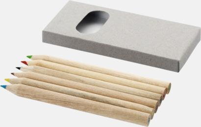 6-delars blyertspennset med reklamtryck
