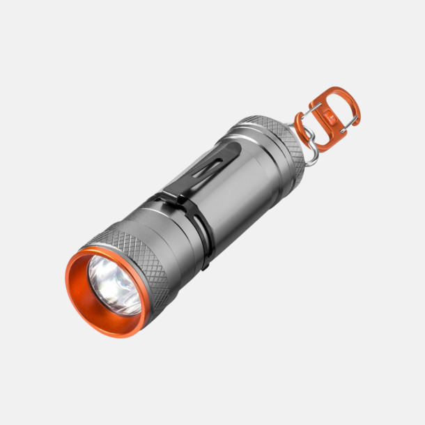 Ficklampa med dubbel karbinhake med reklamtryck