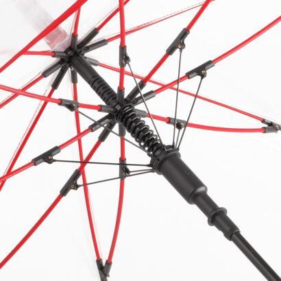 Genomsynliga paraplyer med färgkontraster med reklamtryck